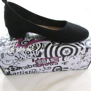 Brash Gabby Black Suede Heeled Shoes w/ Box